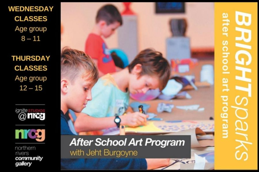 BRIGHT Sparks after school art program, NRCG Ballina