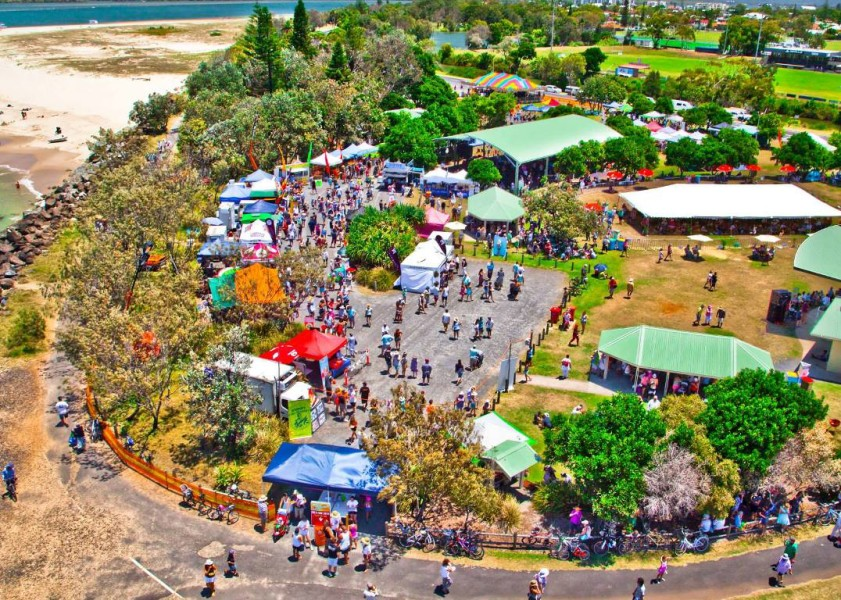 Ballina Prawn Festival - Aerial View