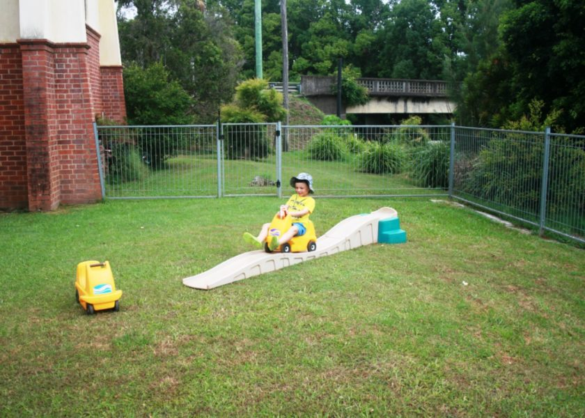 Bangalow Playgroup - outside play area