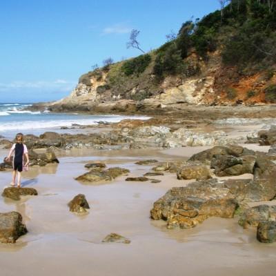 Broken Head Beach - rockpools