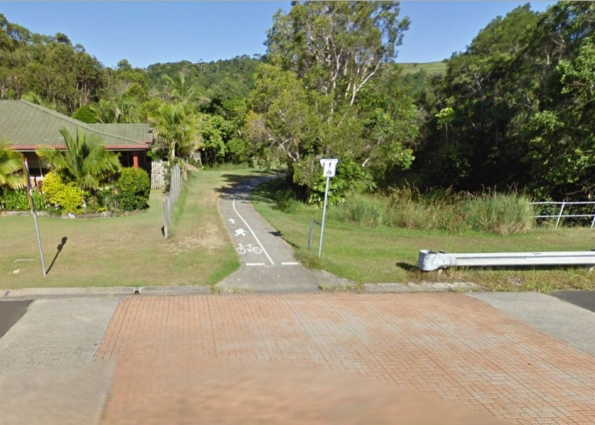 Entrance to Bunya Place Park off Beech Drive