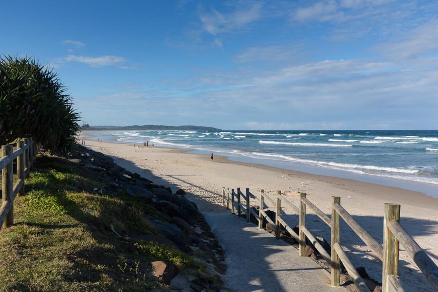 Beach access path leading to Lennox Head boardwalk