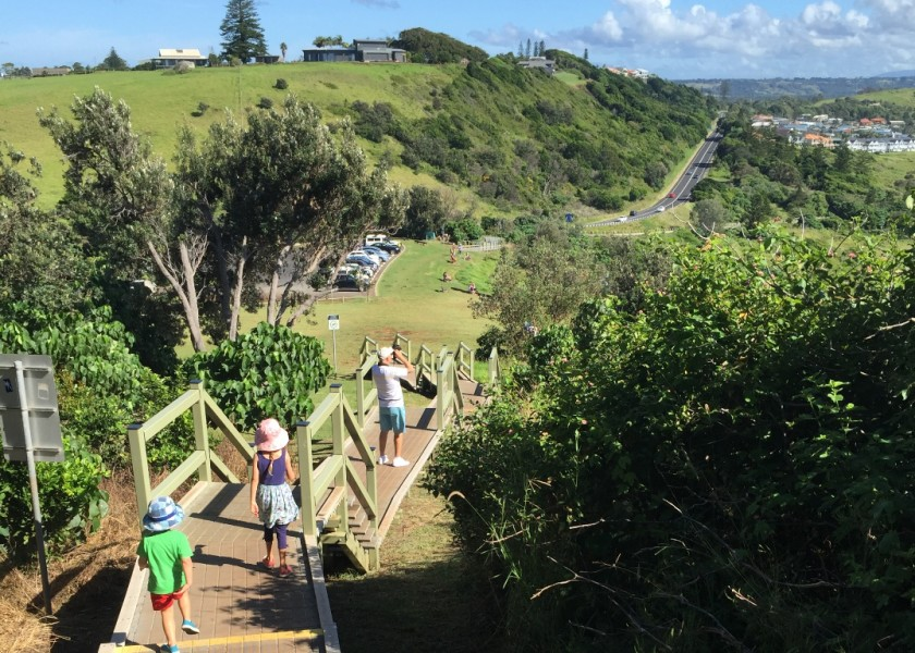 Steps from Pat Morton Lookout to Boulders Beach pathway