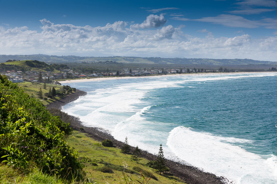 View of Lennox Head beach from Pat Morton Lookout