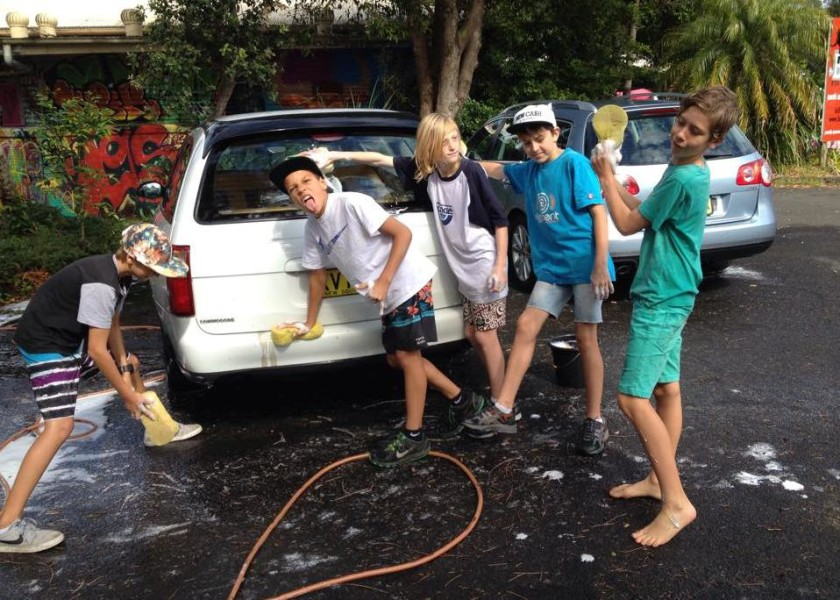 The Uncle Project Byron Bay - Car washing fundraiser