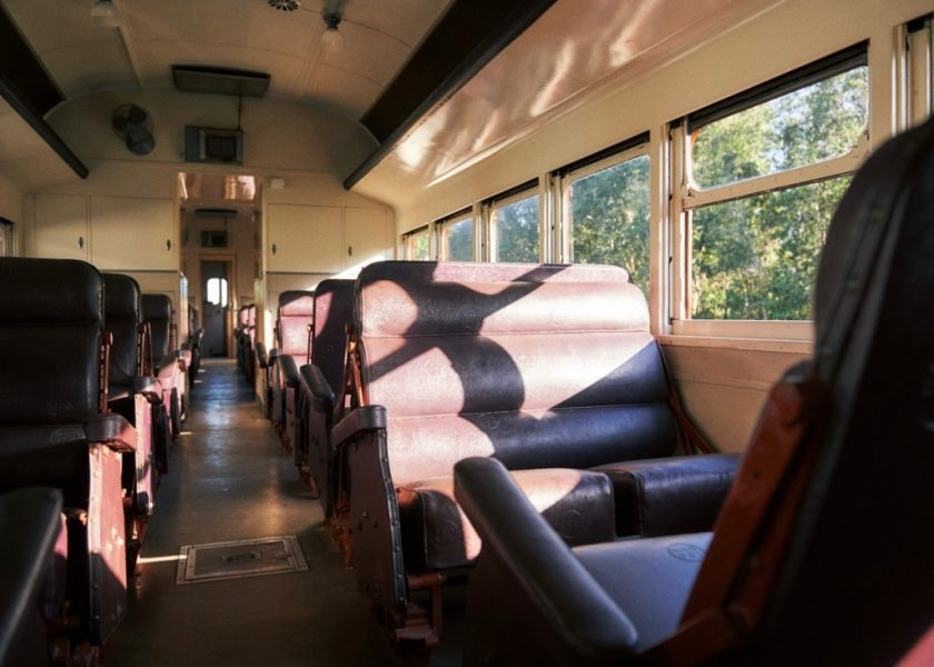 Byron Bay Train - First Class 1949-style leather reversible seats