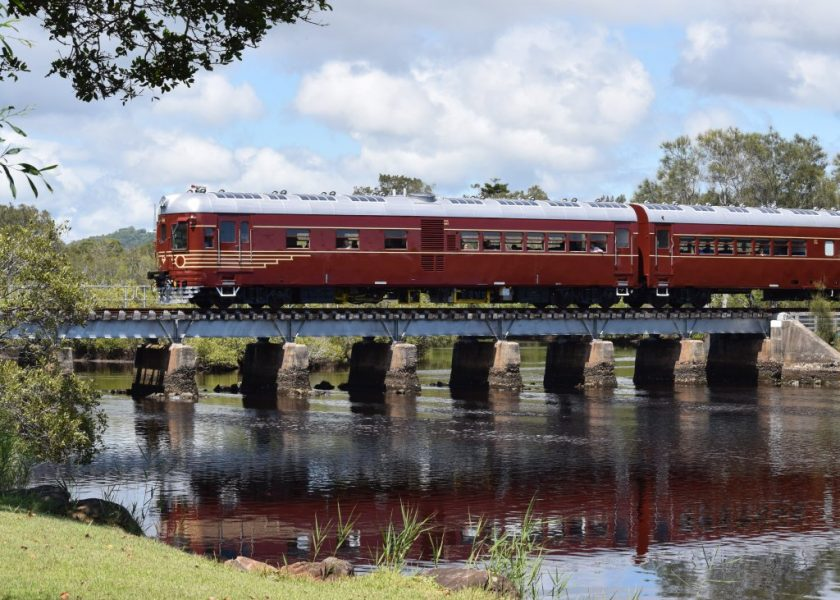 Byron Bay Train crossing Belongil Creek - image by Rodney Towers