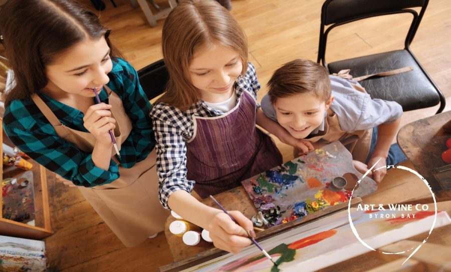 After School Art in Byron Bay with Art & Wine Co