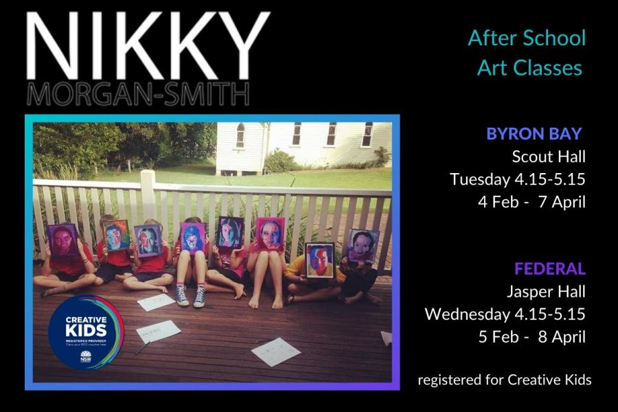 After School Art Classes with Nikky in Byron Bay & Federal