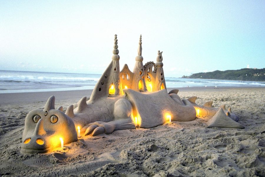 Sandology -Dragon Sand Sculpture