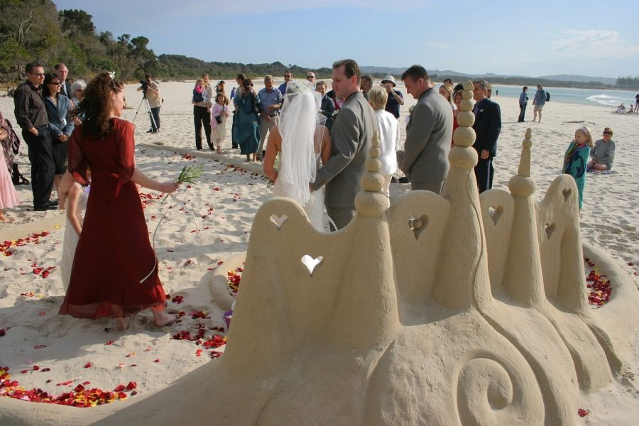 Sandology - Wedding Sand Sculpture