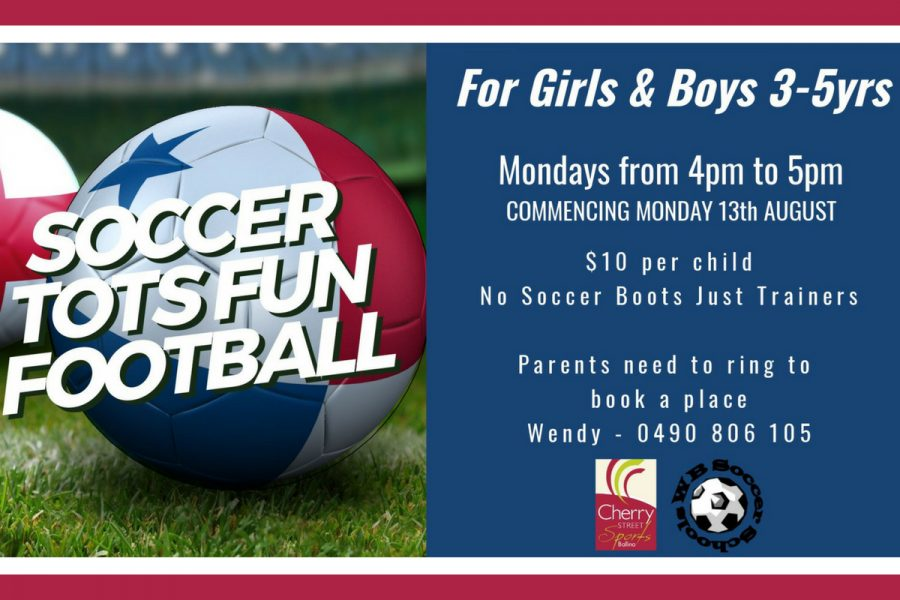 Soccer Tots Fun at Cherry Street Sports Ballina