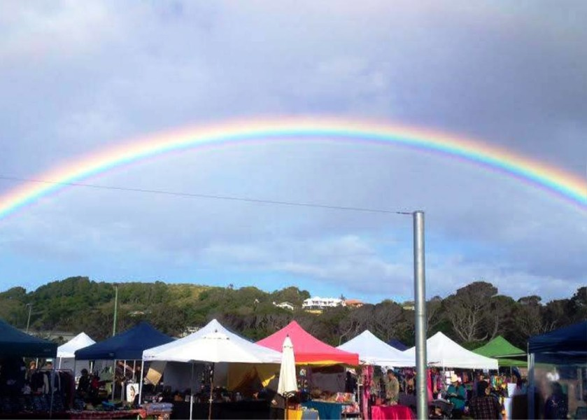 Rainbow at Lennox Head Community Markets
