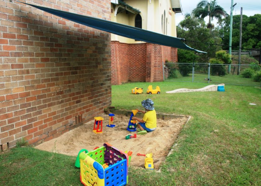 Bangalow Playgroup - outside covered sandpit