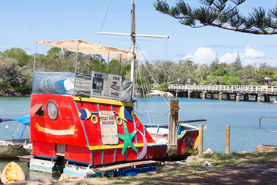Buccaneer Boat, Banner Park, Brunswick Heads