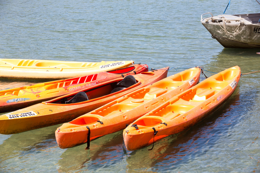 Kayaks for hire, Banner Park, Brunswick Heads