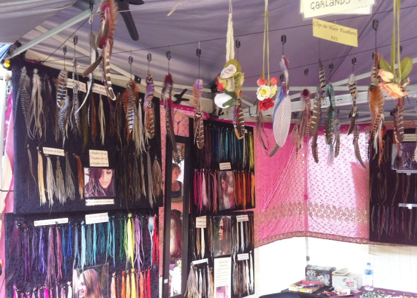 Byron Artisan Market - The Feather Lady Stall