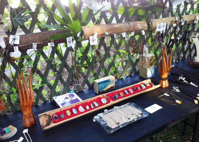 Byron Artisan Market - Taiga Rose Jewellery Stall