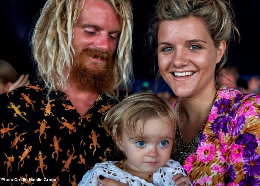 Byron Bay Bluesfest Xavier Rudd and family - photo credit Natalie Grono