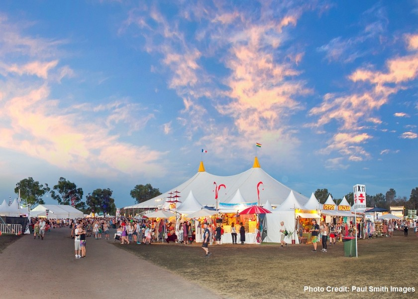 Byron Bay Bluesfest - photo credit Paul Smith
