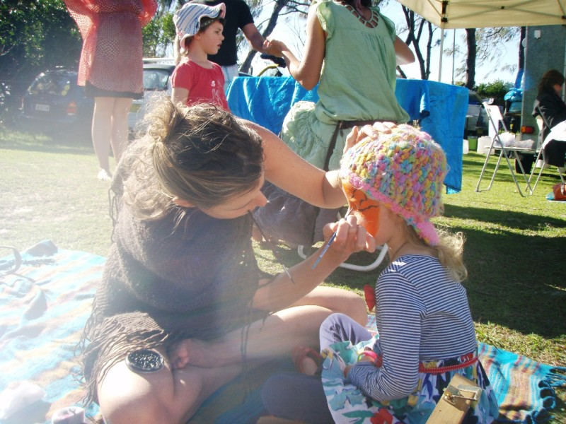 Byron Bay Beachside Market - Facepainting