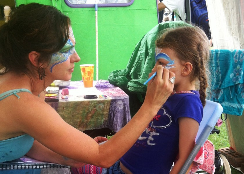 Byron Bay Beachside Market - Face painting