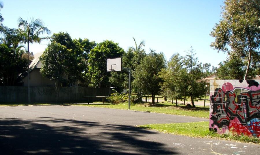 Basketball court, Jacaranda Drive Park, Byron Bay