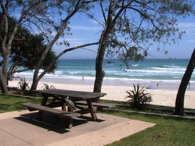 Picnic Table, Watgeos Beach, Byron Bay