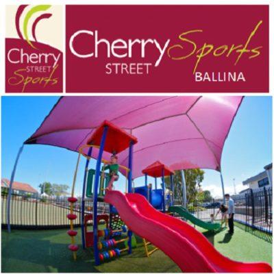 Cherry Street Sports - logo and playground