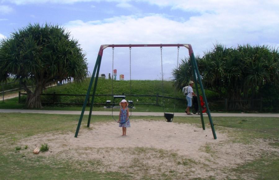 Swings at the start of Lennox Head boardwalk