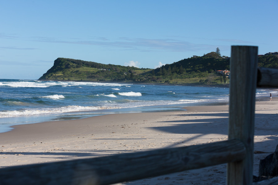 Boardwalk View of Lennox Head Point