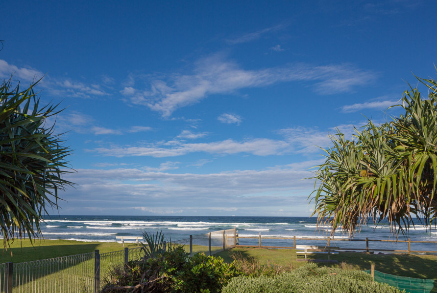 View from playground at Ross Park, Lennox Head