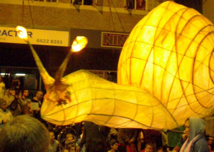 Lismore Lantern Parade - Snail lantern