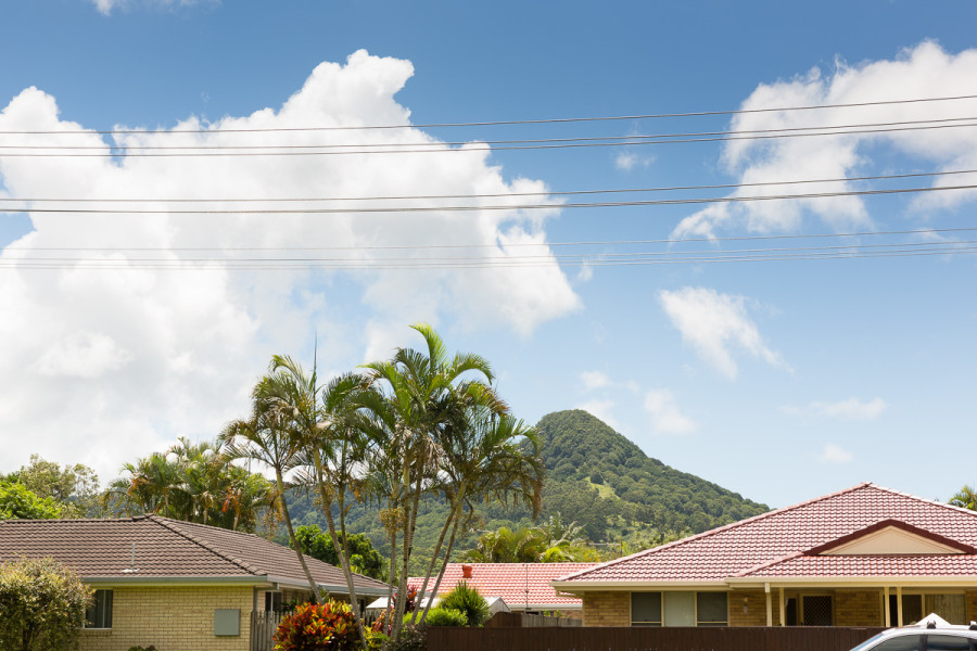 View of Mount Chincogan from Riverside Drive Park, Mullumbimby