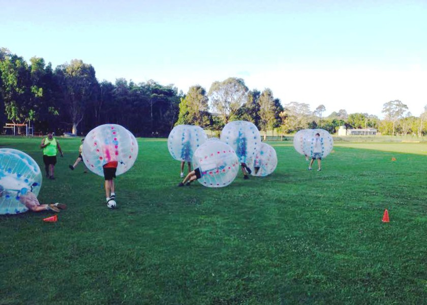 The Uncle Project Byron Bay - Bubble Football Activity